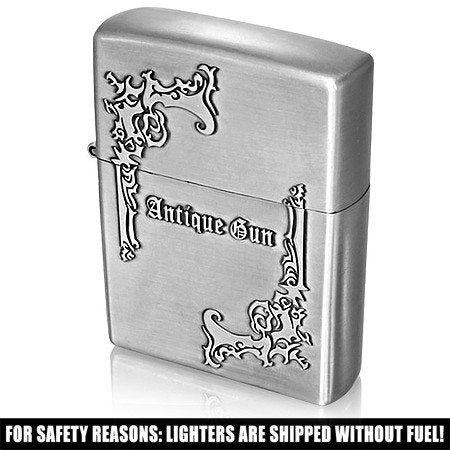 Antique Gun Refillable Flip Top Sport Lighter - Rebelroad.co.za