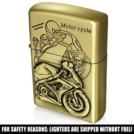 Motorcycle Sport Refillable Flip Top Lighter - Rebelroad.co.za - 1