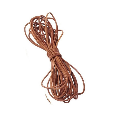 Natural Brown Leather Cord -2mm