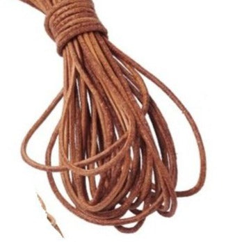 Natural Brown Cowhide Leather Cord -3mm