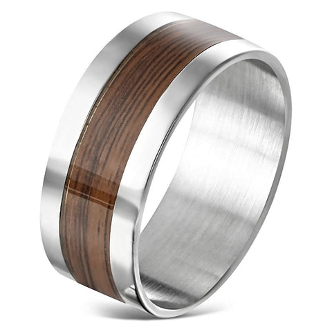 2-tone Comfort Fit Flat Band Ring - Rings - Rebel Road