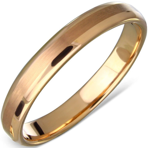 Pink Gold Color Plated Tungsten Ring - Rings - Rebel Road