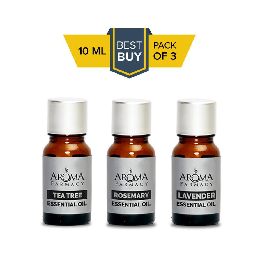 Set of 3 Essential Oils 100% Pure & Natural - Undiluted - Aroma Farmacy