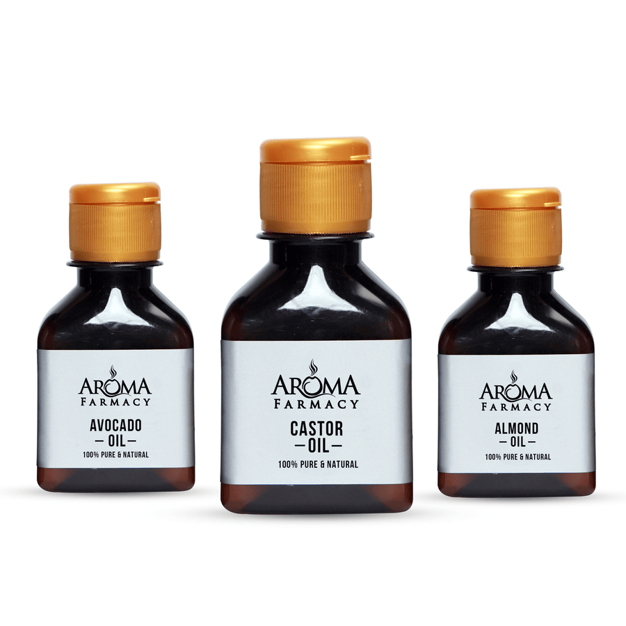Top Selling 3 Carriers Oil 100% Pure & Natural - Aroma Farmacy