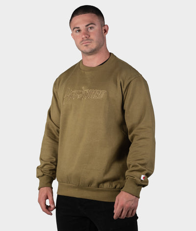 HT Embroidered Sweater - Olive