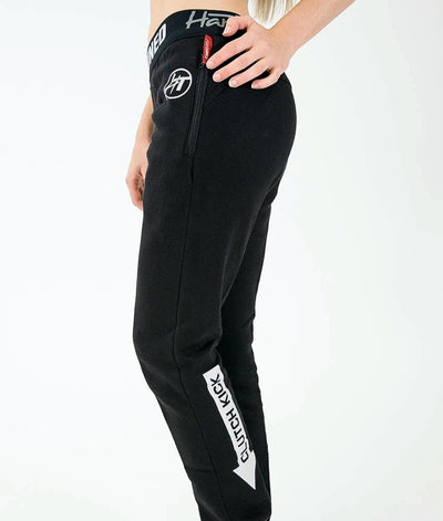 Ladies Power Over Trackies - Black