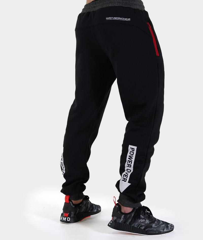 Mens Power Over Track Pants - Black