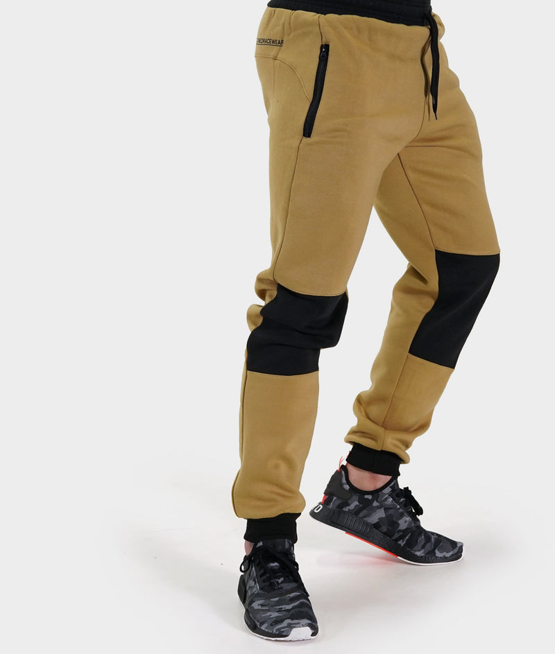 Mens Power Over Track Pants - Tan