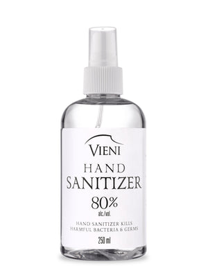 Hand Sanitizer - 250 ml at 80% Alcohol