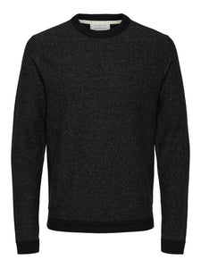 Selected Homme Jefferson Crew Sweat in Black