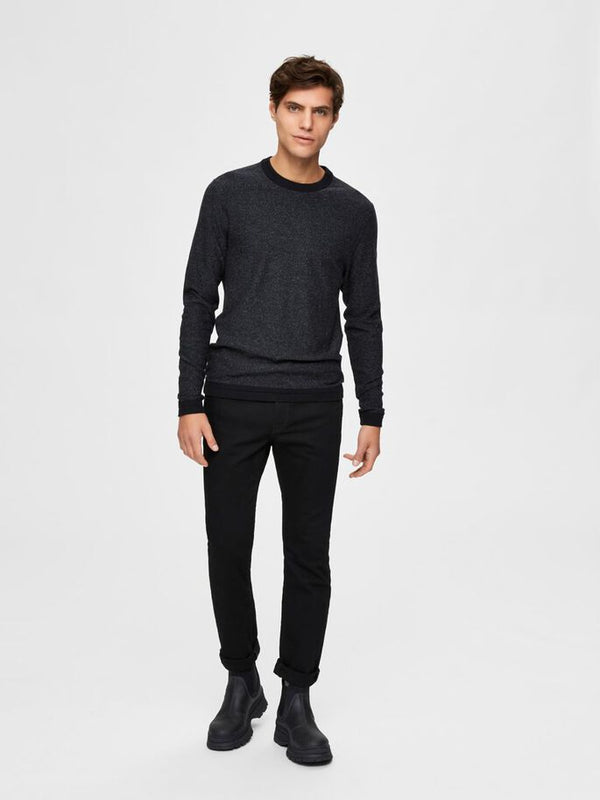 Jefferson Crew Sweat in Black