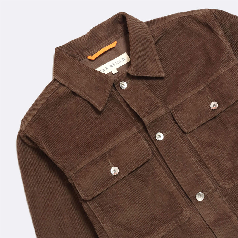 Watts Cord Jacket in Brown