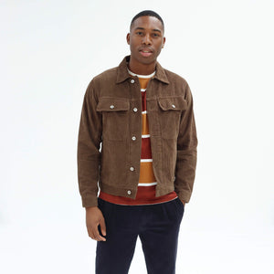 Far Afield Watts Cord Jacket in Brown WAS £140 NOW £70
