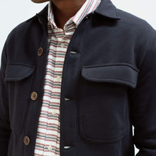 Load image into Gallery viewer, Far Afield Normsk Navy Cotton Fleece Jacket