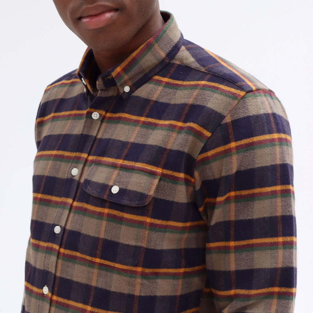 Far Afield Flannel Larry L/S Sleeve WAS £75 NOW £35