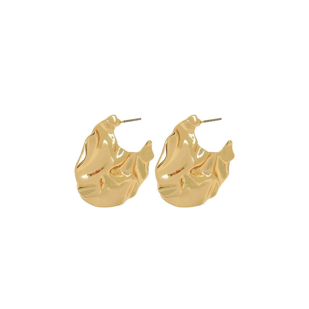 Dansk Ripple Earring Gold Plated