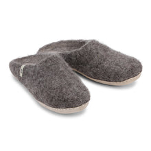 Load image into Gallery viewer, Fair Traded Natural Felted Slippers in Natural Brown
