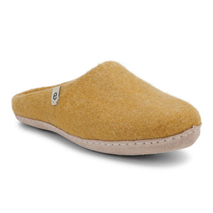 Egos Fair Traded Natural Felted Slippers in Mustard Yellow