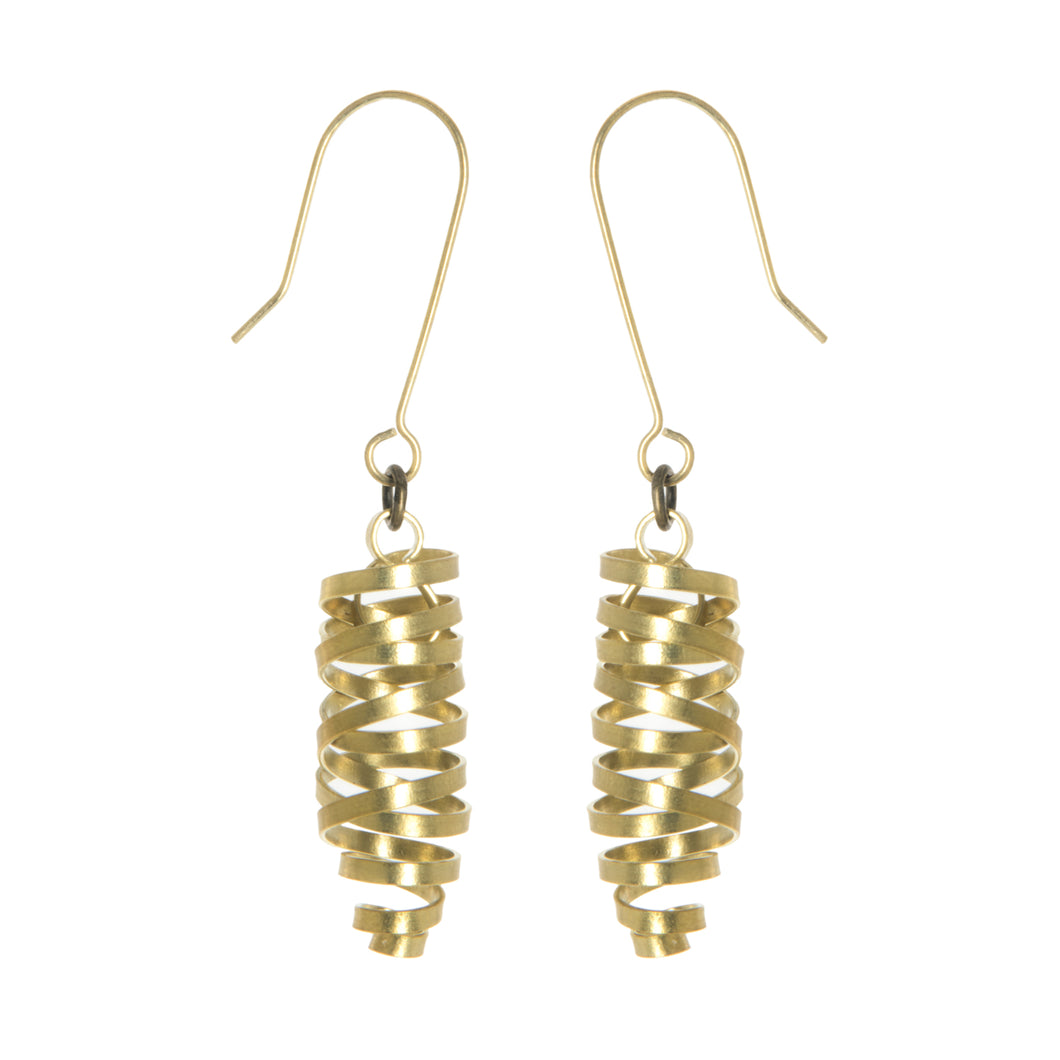 Just Trade Brass Ribbon Laurita Earrings