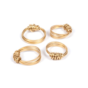 Just Trade Brass Ribbon Ring