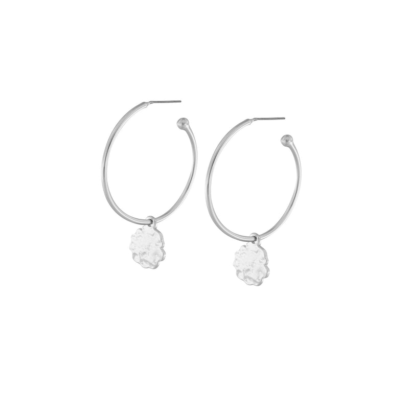 Amelia Earrings in Rhodium Plating