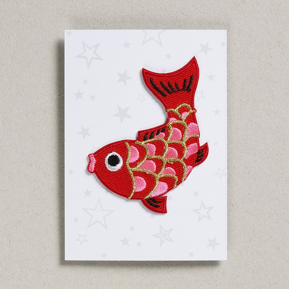 Iron on patch - KOI Carp