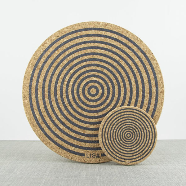 Cork Orbit Grey Coaster