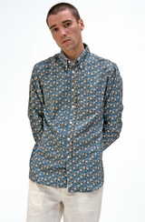 Mod Button Down Long Sleeve Shirt in Paradise Floral