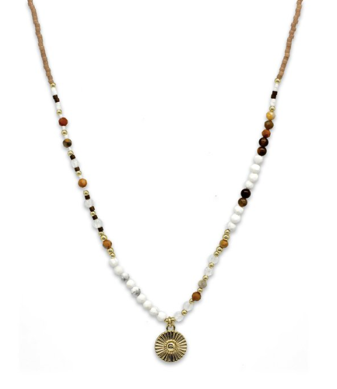 Hotei Natural Beaded Necklace