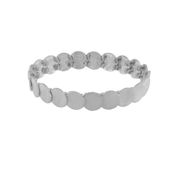 Theia Mini Dot Bracelet in Rhodium Plating