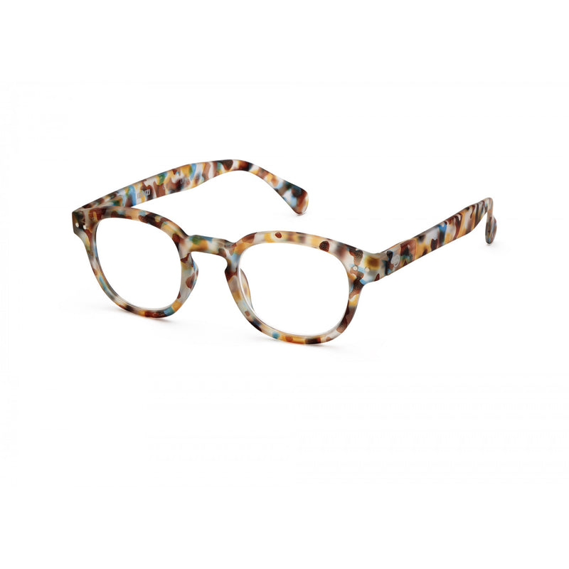 Reading Glasses Model c in Blue Tortoise