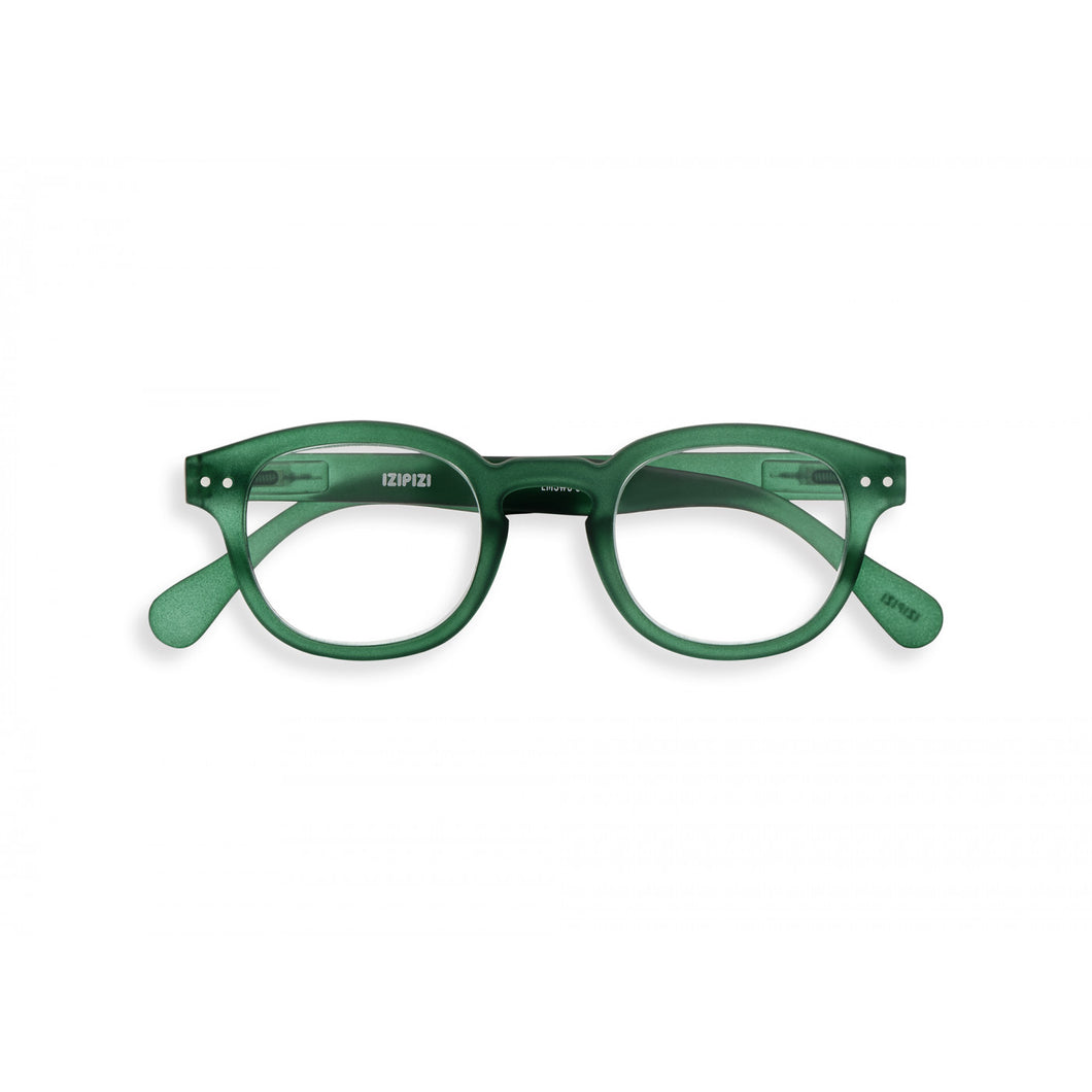 Reading Glasses Model C in Green Crystal