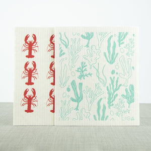 ECO Liga Dishcloths Seaweed and Lobster