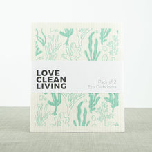 Load image into Gallery viewer, ECO Liga Dishcloths Seaweed and Lobster