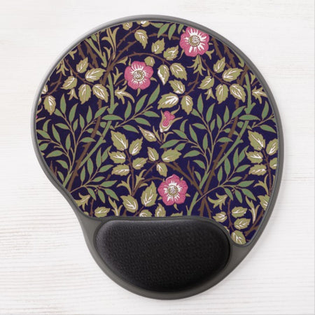William Morris Sweet Briar Floral Art Nouveau Gel Mouse Pad