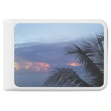 Serene Palm Tree Ocean Sunrise Power Bank