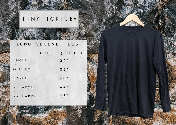 Adult Long Sleeve Tee size guide