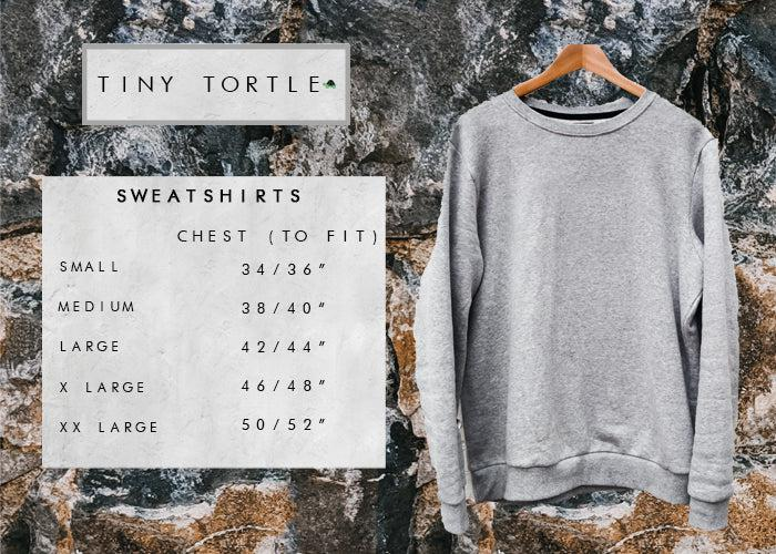 Adult sweatshirt size guide
