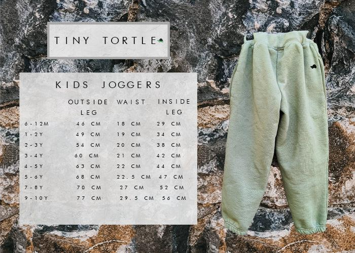 Kids joggers size guide