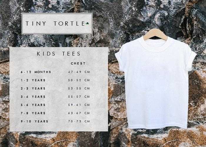 Kids tees size guide
