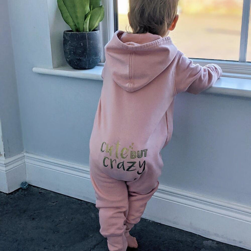 PERSONALISED 'CUTE BUT CRAZY' HOODED ONESIE