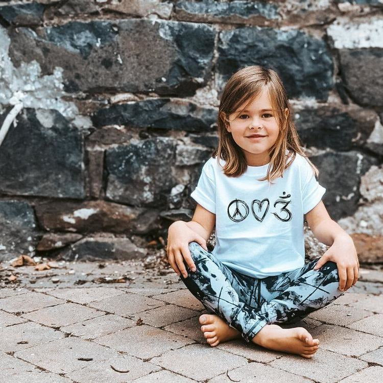 PEACE. LOVE. YOGA. TEE.