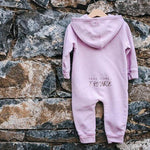 UH OH. HERE COMES TROUBLE HOODED ONESIE