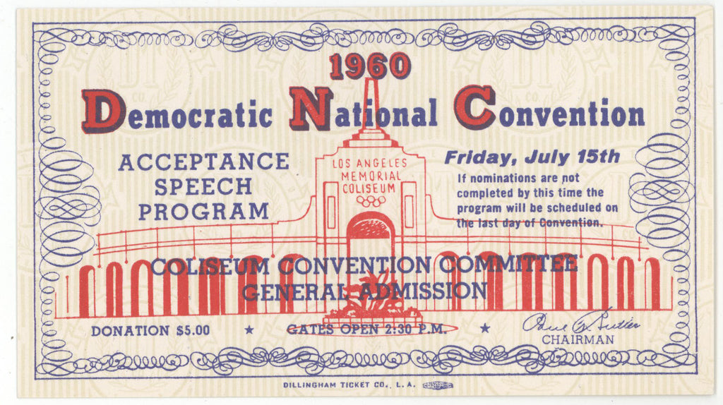 1960 Democratic National Convention ACCEPTANCE SPEECH