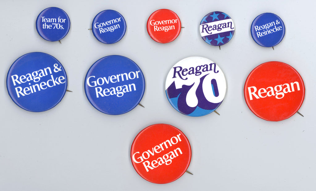 10 Reagan for Governor pinbacks 1970