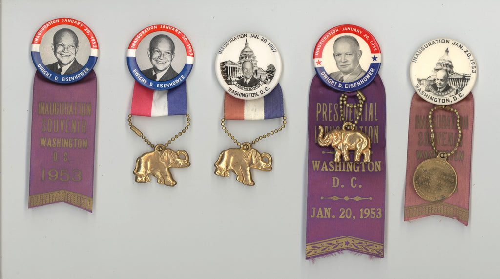 12 different ribbon-badges 1953 & 1957 Inaugurations - Eisenhower