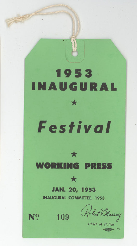 1953 INAUGURAL Festival WORKING PRESS