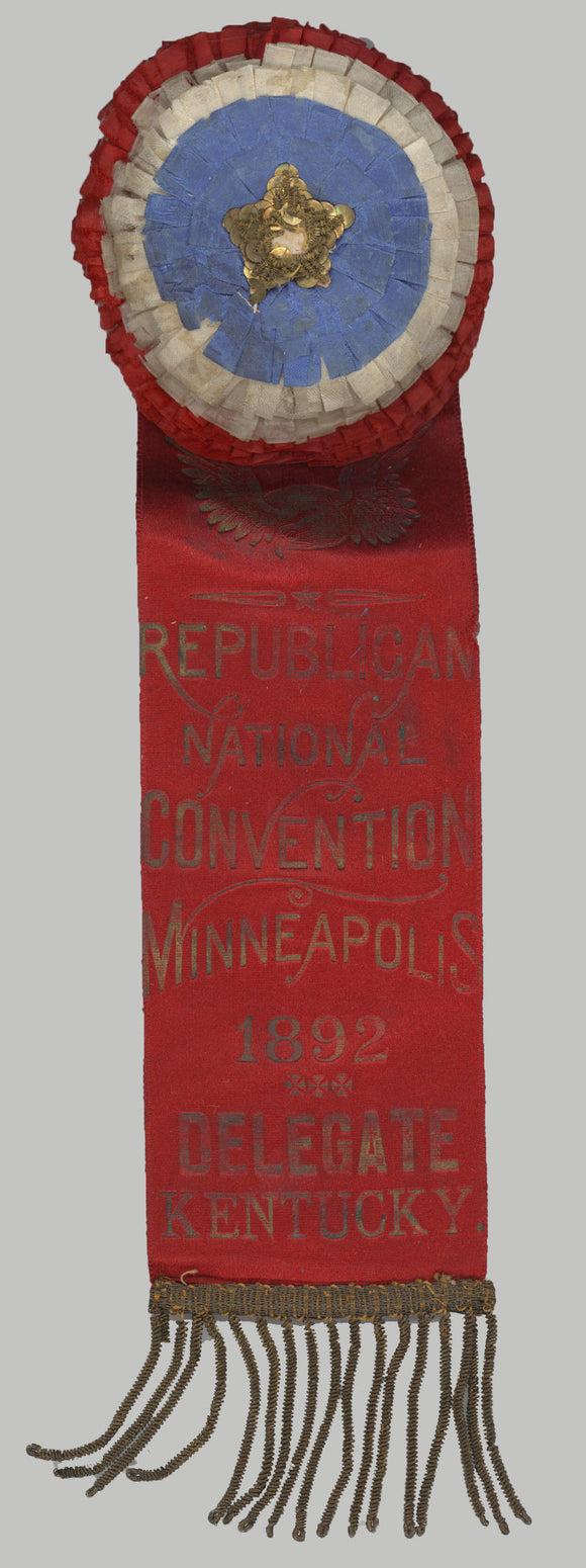 REPUBLICAN NATIONAL CONVENTION MINNEAPOLIS 1892 DELEGATE KENTUCKY