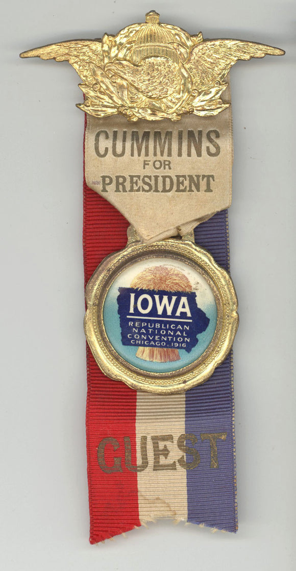 CUMMINS FOR PRESIDENT / IOWA REPUBLICAN NATIONAL CONVENTION 1916 / GUEST