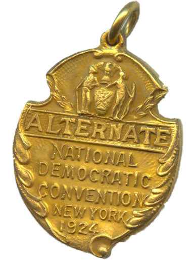 ALTERNATE NATIONAL DEMOCRATIC CONVENTION NEW YORK 1924